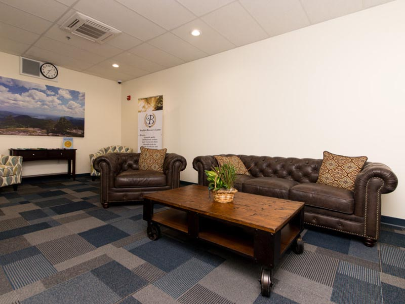 Couches in a lobby area at Bradford Recovery